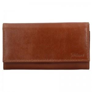 Dámská kožená peněženka Diviley Vilma - hnědá