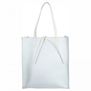 Dámská kožená kabelka Facebag Elmo - stříbrná