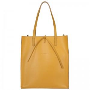 Dámská kožená kabelka Facebag Elmo - hořčicová