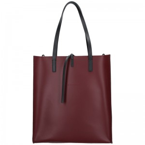 Dámská kožená kabelka Facebag Elmo - vínová