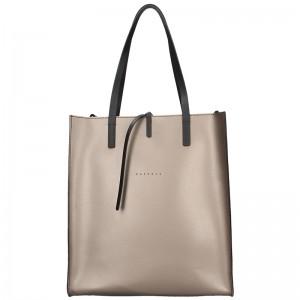 Dámská kožená kabelka Facebag Elmo - bronzová