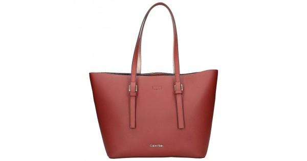 142efe474a Dámská kabelka Calvin Klein Fiona - vínová