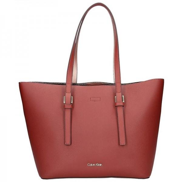 Dámská kabelka Calvin Klein Fiona - vínová