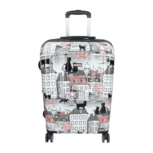 Cestovních kufr Airtex Paris Cat- černá