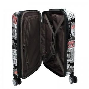 Cestovních kufr Airtex Paris Cat L - černo-bílá