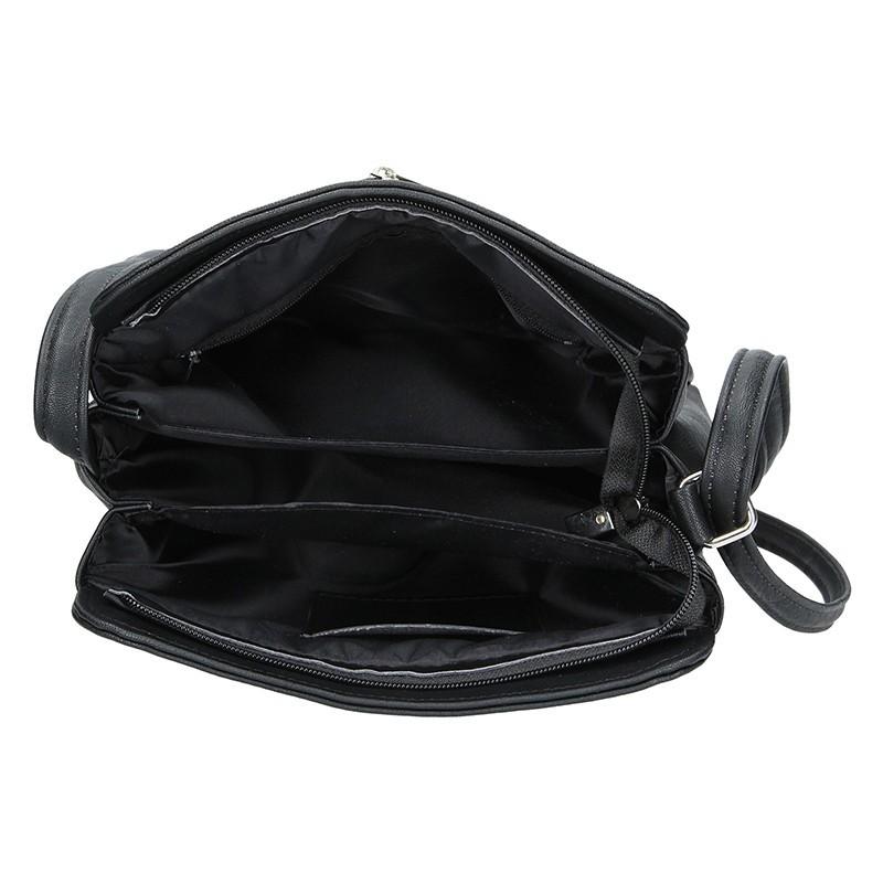 Dámská crossbody kabelka SendiDesign Lena - černo-stříbrná