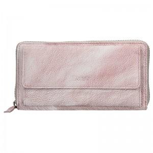 Dámská kožená peněženka Lagen Maria - světle fialová