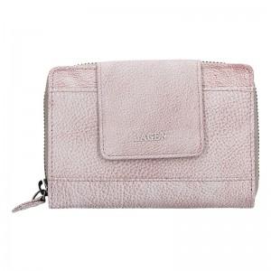 Dámská kožená peněženka Lagen Agáta - světle fialová