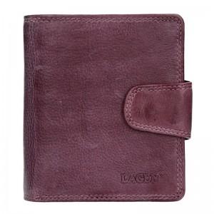 Dámská kožená peněženka Lagen Marla - fialová