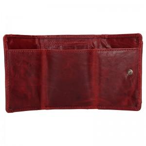 Dámská kožená slim peněženka Lagen Mellba - vínová