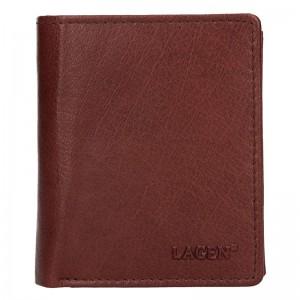 Pánská kožená peněženka Lagen Xaver - hnědá