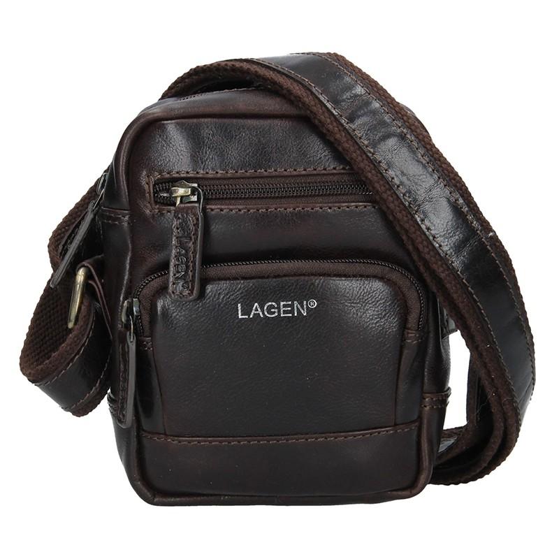 7961e82c0 Pánská kožená taška přes rameno Lagen Polen - hnědá