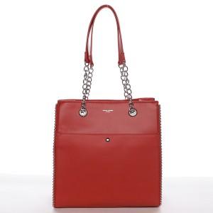 Dámská kabelka David Jones Iva - červená