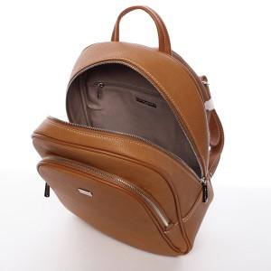 Módní dámský batoh David Jones Aqua - koňak