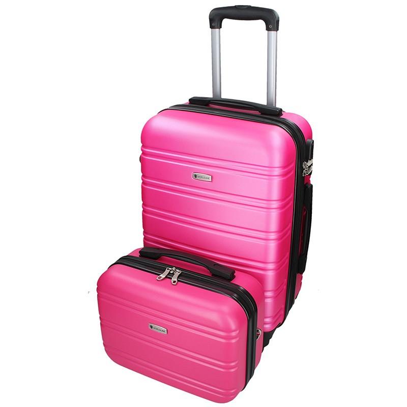 Sada dvou cestovních kufrů Airtex Worldline 531/2 - růžová