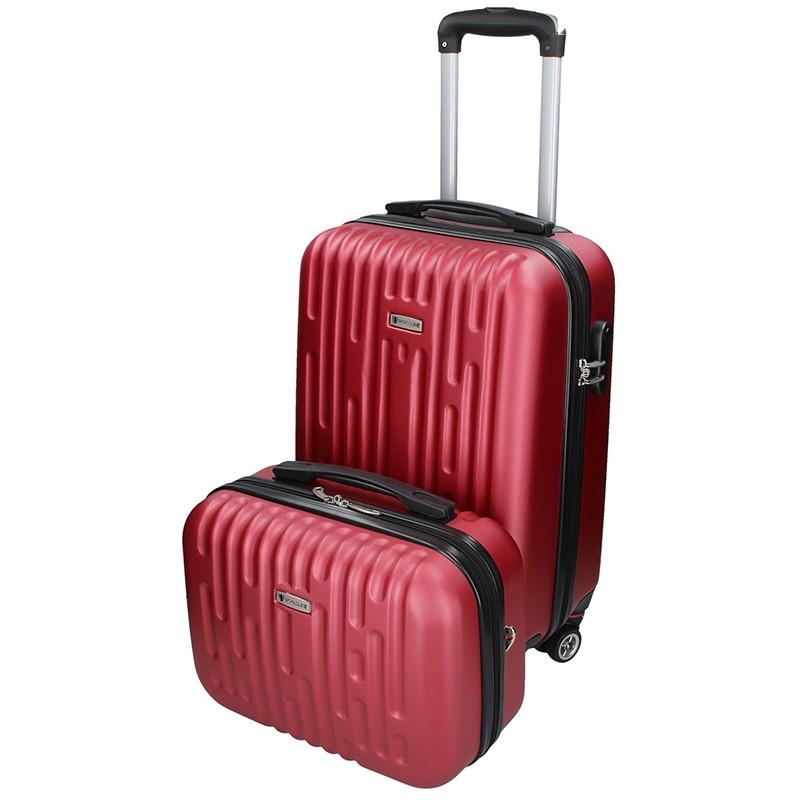 7065fce76c452 Sada dvou cestovních kufrů Airtex Worldline Kuga - tmavě červená