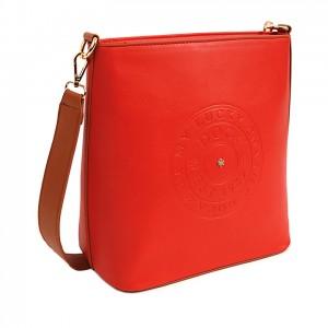 Dámská crossbody kabelka Doca 14516 - červená