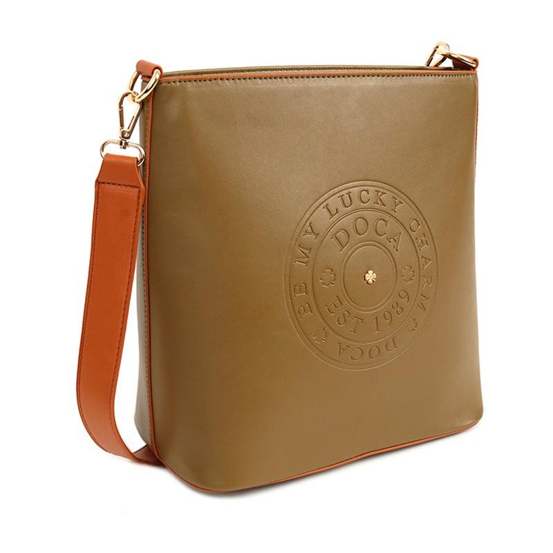 Dámská crossbody kabelka Doca 14517 - khaki