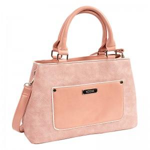 Dámská kabelka Doca 14628 - růžová