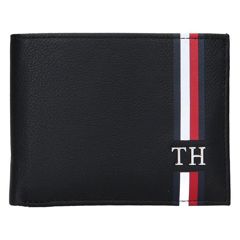 4b52b7764d Pánská kožená peněženka Tommy Hilfiger - černá