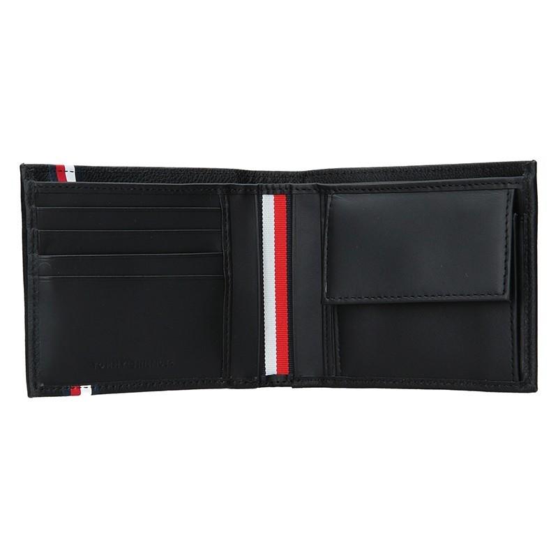 Pánská kožená peněženka Tommy Hilfiger - černá