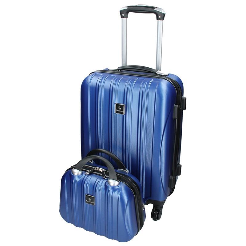 Sada dvou cestovních kufrů Madisson Travel - modrá 39l
