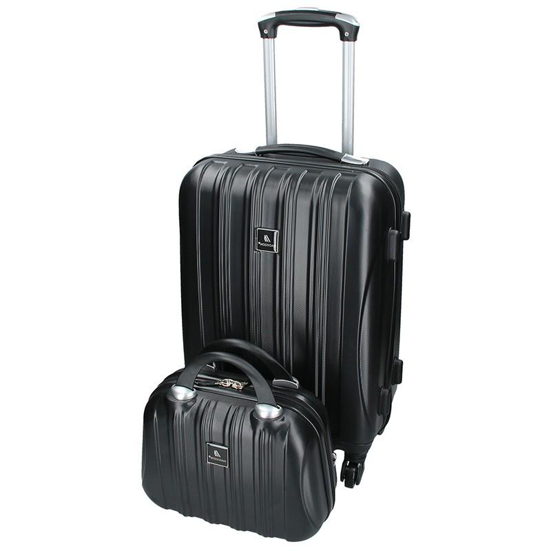 Sada dvou cestovních kufrů Madisson Travel - černá 39l