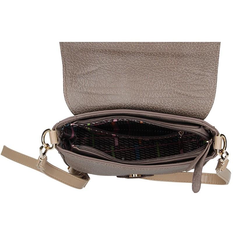 Dámská crossbody kabelka Doca 13612 - béžovo-šedá