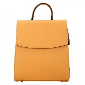 Elegantní dámský batoh Hexagona Erika - žlutá