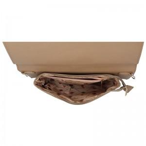 Dámská crossbody kabelka Doca 14915 - béžová