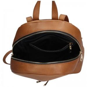 Dámský kožený batoh Facebag Paloma - hnědá