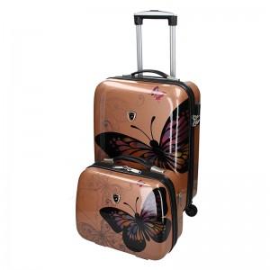Sada dvou cestovních kufrů Madisson Ritta - růžovo-zlatá
