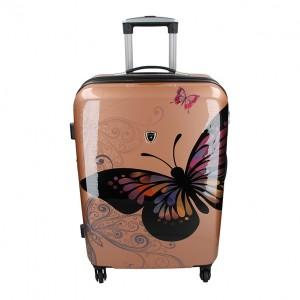 Cestovní kufr Madisson Ritta M - růžovo-zlatá
