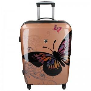 Cestovní kufr Madisson Ritta L - růžovo-zlatá