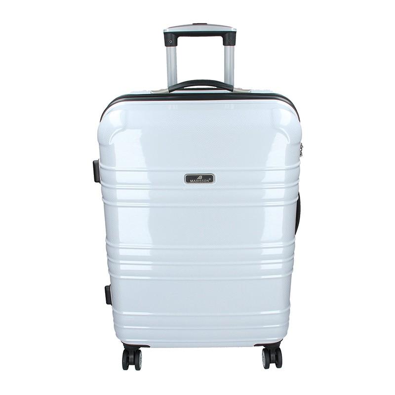 Cestovní kufr Madisson Monaco M - bílá 75l
