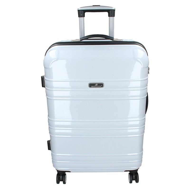 Cestovní kufr Madisson Monaco L - bílá 82l