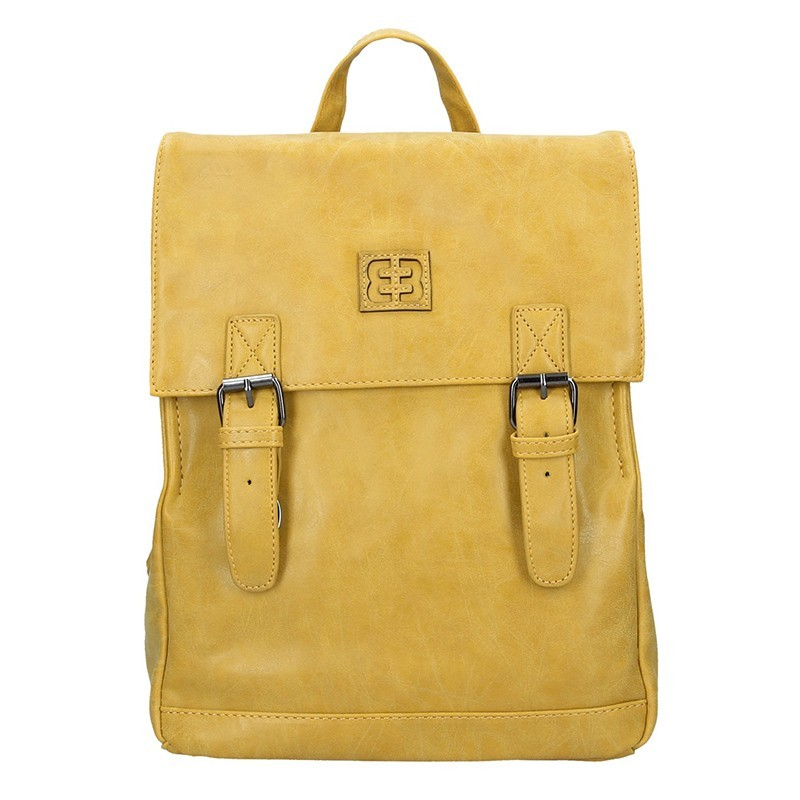 Moderní dámský batoh Enrico Benetti Vilma - žlutá