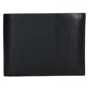 Pánská kožená peněženka Calvin Klein Britt - černá