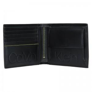 Pánská kožená peněženka Calvin Klein Liem - černá