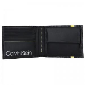 Pánská kožená peněženka Calvin Klein Bruce - černá