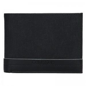 Pánská kožená peněženka Calvin Klein Natah - černá