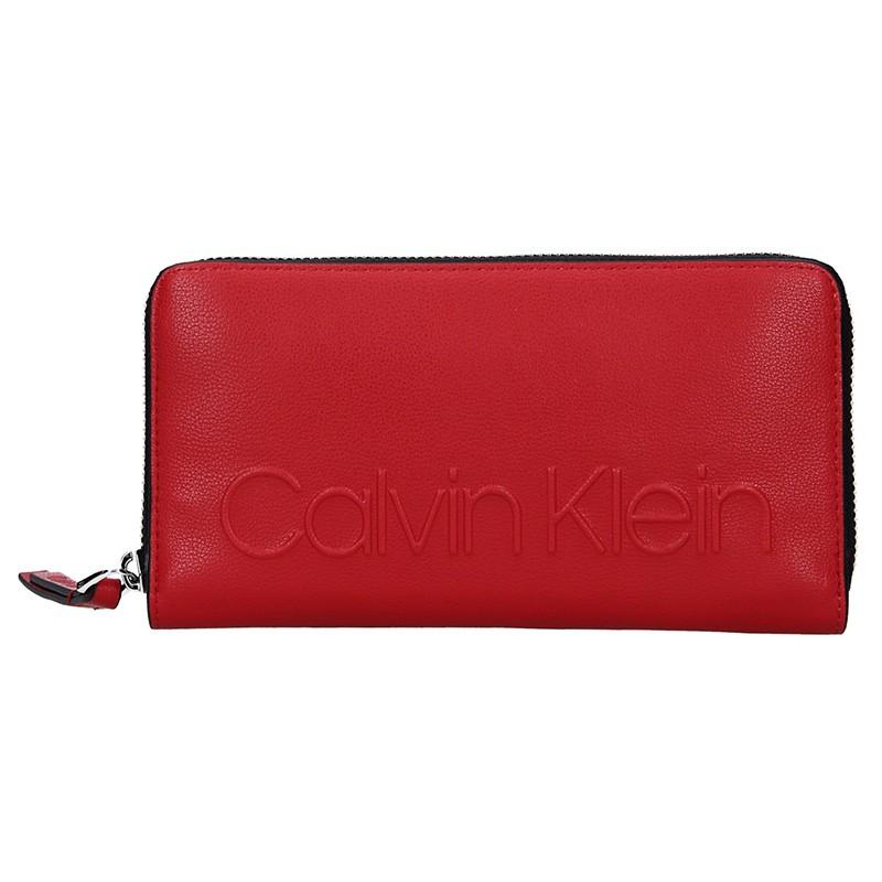 Dámská peněženka Calvin Klein Nicca - červená