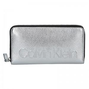 Dámská peněženka Calvin Klein Nicca - stříbrná