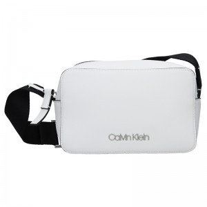 Dámská crossbody kabelka Calvin Klein Líza - bílá