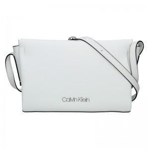 Dámská crossbody kabelka Calvin Klein Beate - bílá