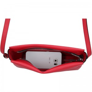 Dámská crossbody kabelka Calvin Klein Beate - červená