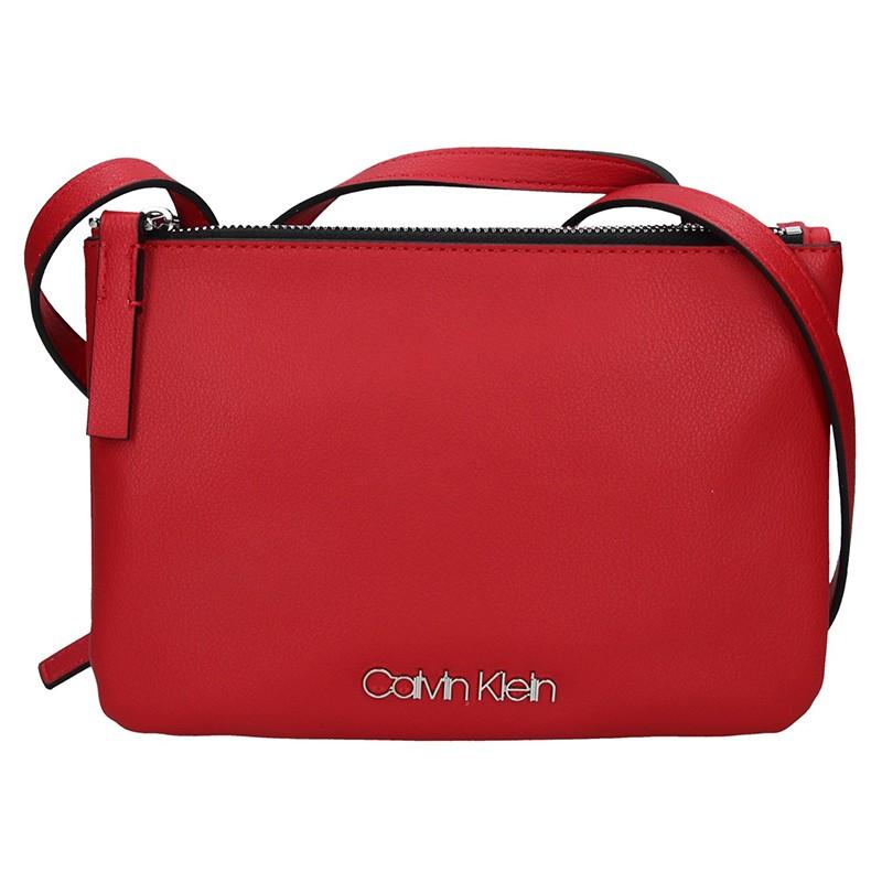 cc02dc578f Dámská crossbody kabelka Calvin Klein Gwen - červená