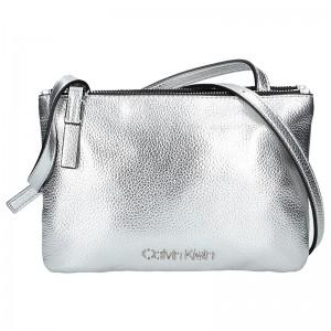 Dámská crossbody kabelka Calvin Klein Gwen - stříbrná