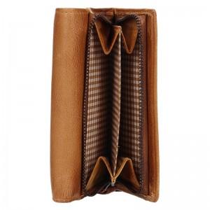 Dámská kožená peněženka Lagen Denisa - karamelová