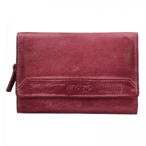 Dámská kožená peněženka Lagen Denisa - fialová